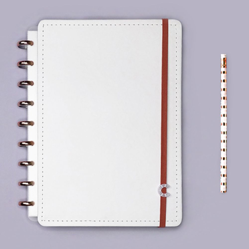 Caderno Inteligente Médio Deluxe All White