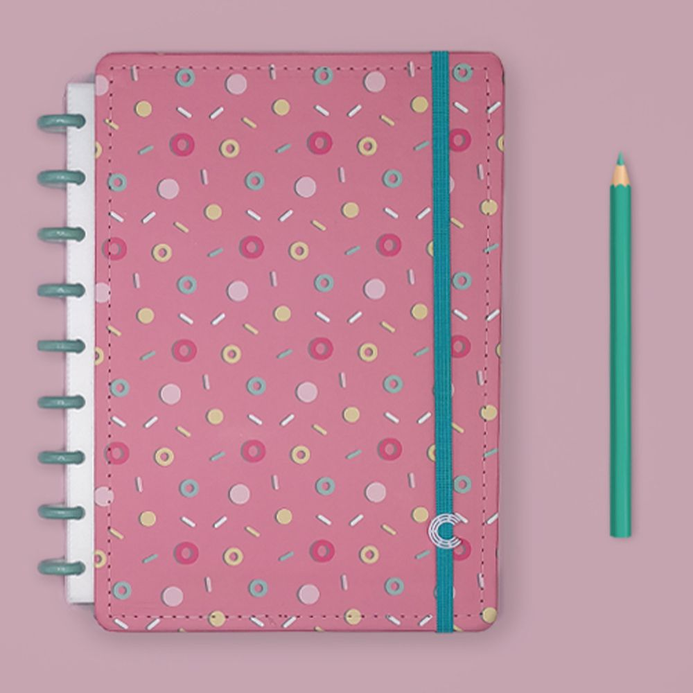 Caderno Inteligente Médio Estampa Mania Lolly