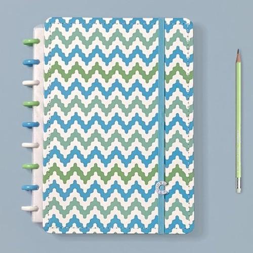 Caderno Inteligente Médio Estampa Mania Waves