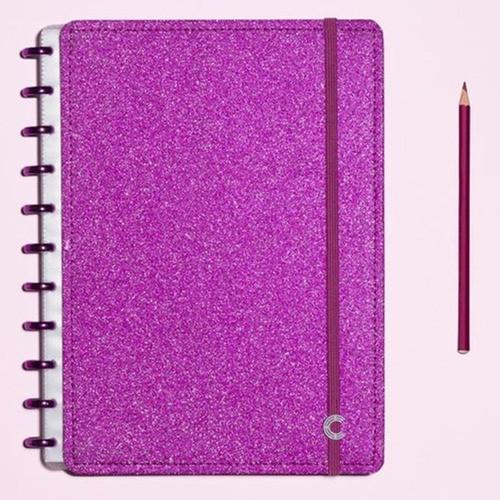 Caderno Inteligente Médio Glitter Pink