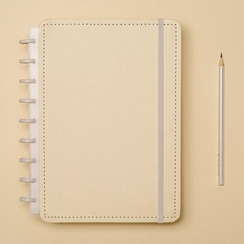 Caderno Inteligente Médio Tons Pastel Amarelo
