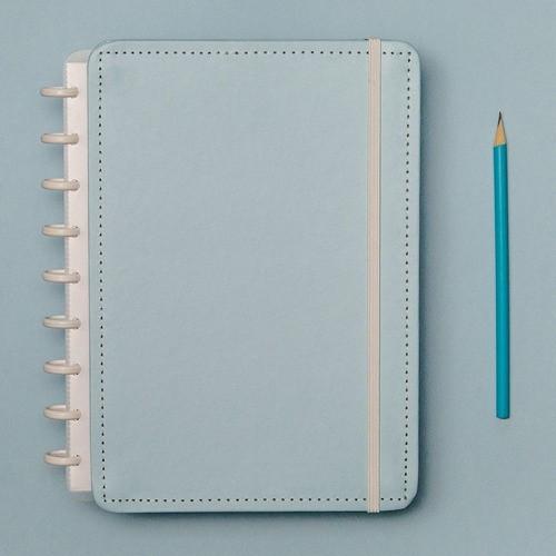 Caderno Inteligente Médio Tons Pastel Azul