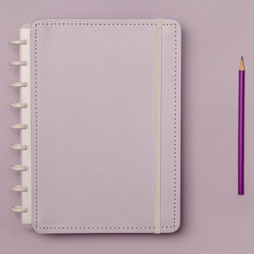 Caderno Inteligente Médio Tons Pastel Lilás