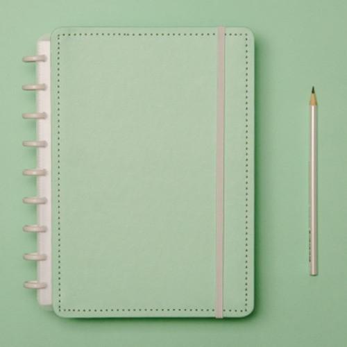 Caderno Inteligente Médio Tons Pastel Verde