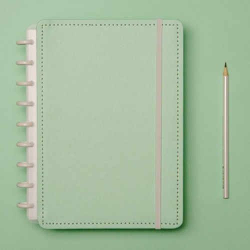 Caderno Inteligente Médio Verde Pastel