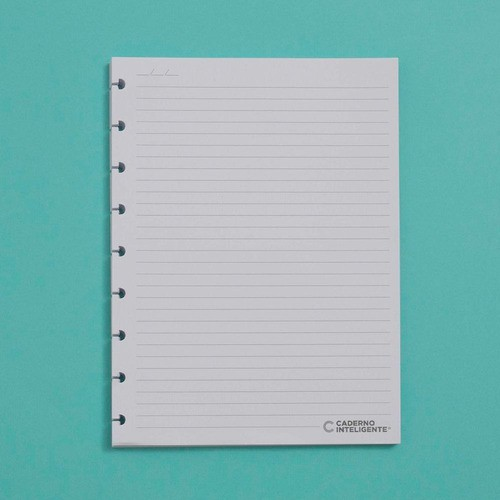 Caderno Inteligente Refil Medio Pautado 90g