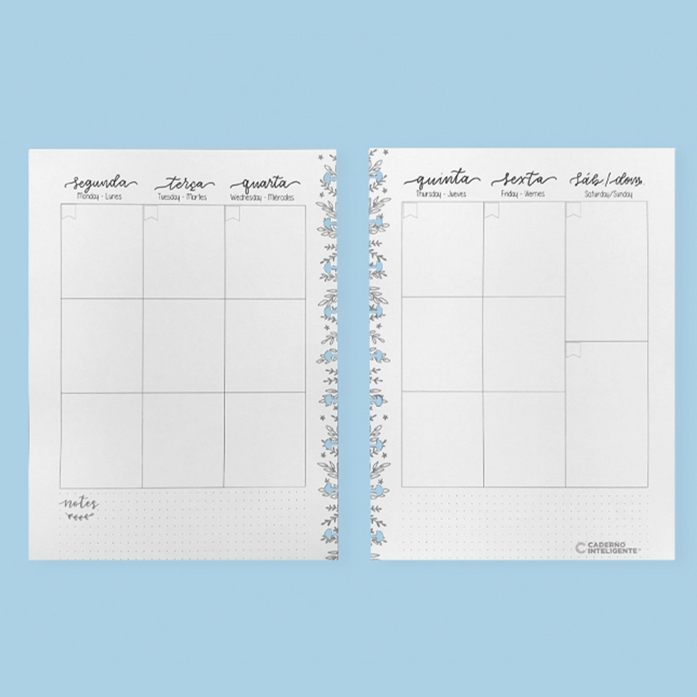Caderno Inteligente Refil Médio Planner Da Sof
