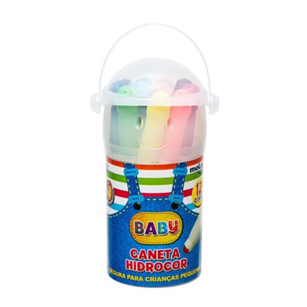 Caneta Molin Hidrocor Baby Copo C/ 12
