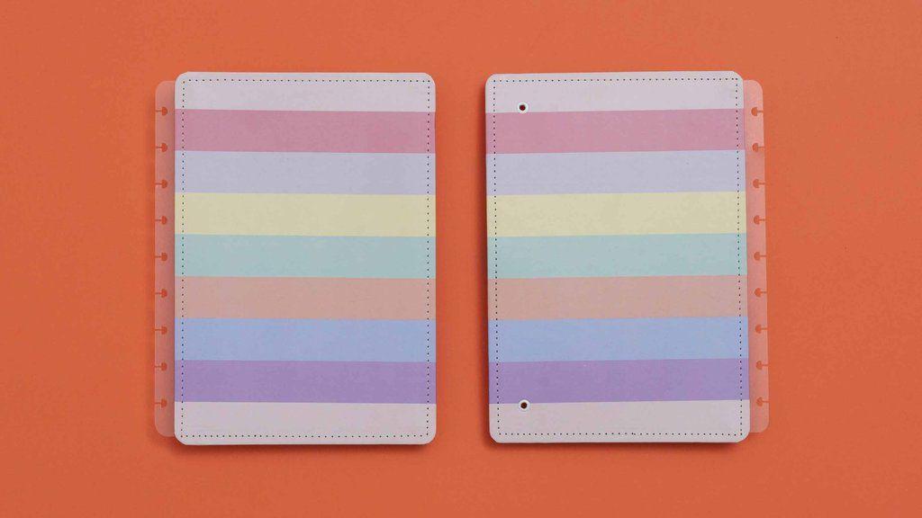 Capa e Contracapa Caderno Inteligente Arco-íris Médio