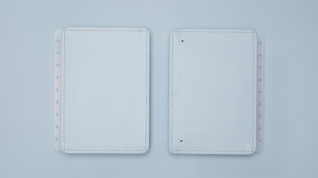 Capa e Contracapa Caderno Inteligente Azul Pastel Medio