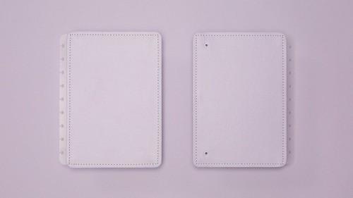 Capa E Contracapa Caderno Inteligente Lilás Pastel Médio