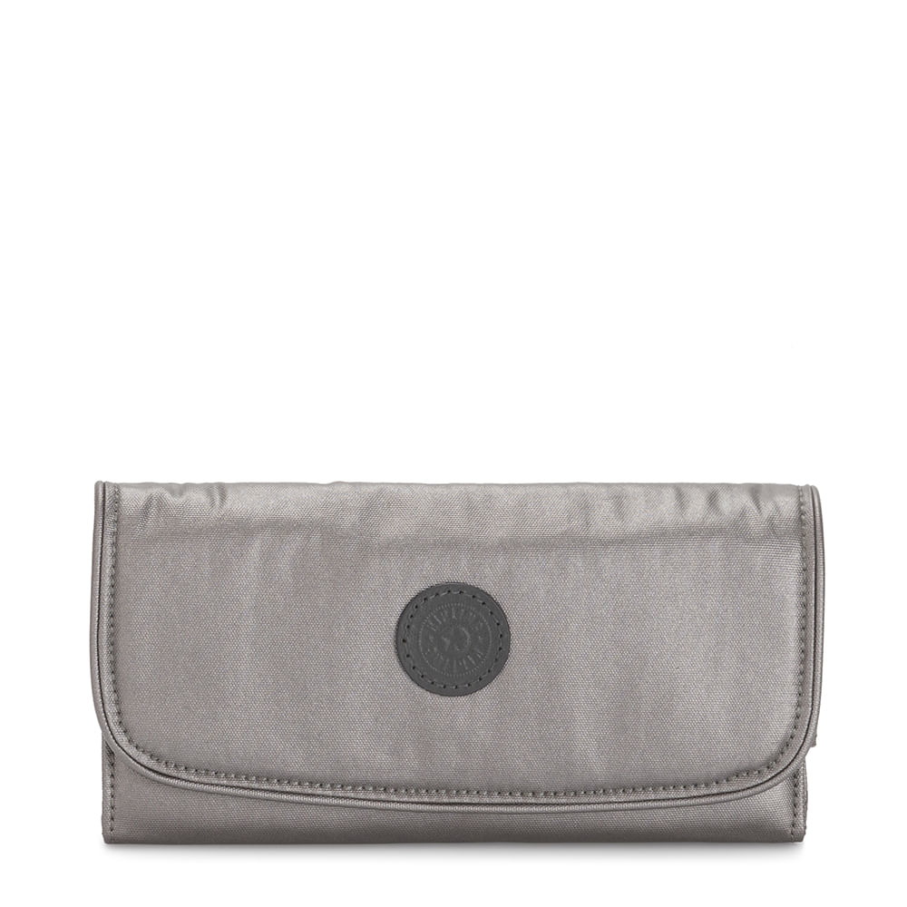 Carteira Kipling Money Land Carbon Metallic