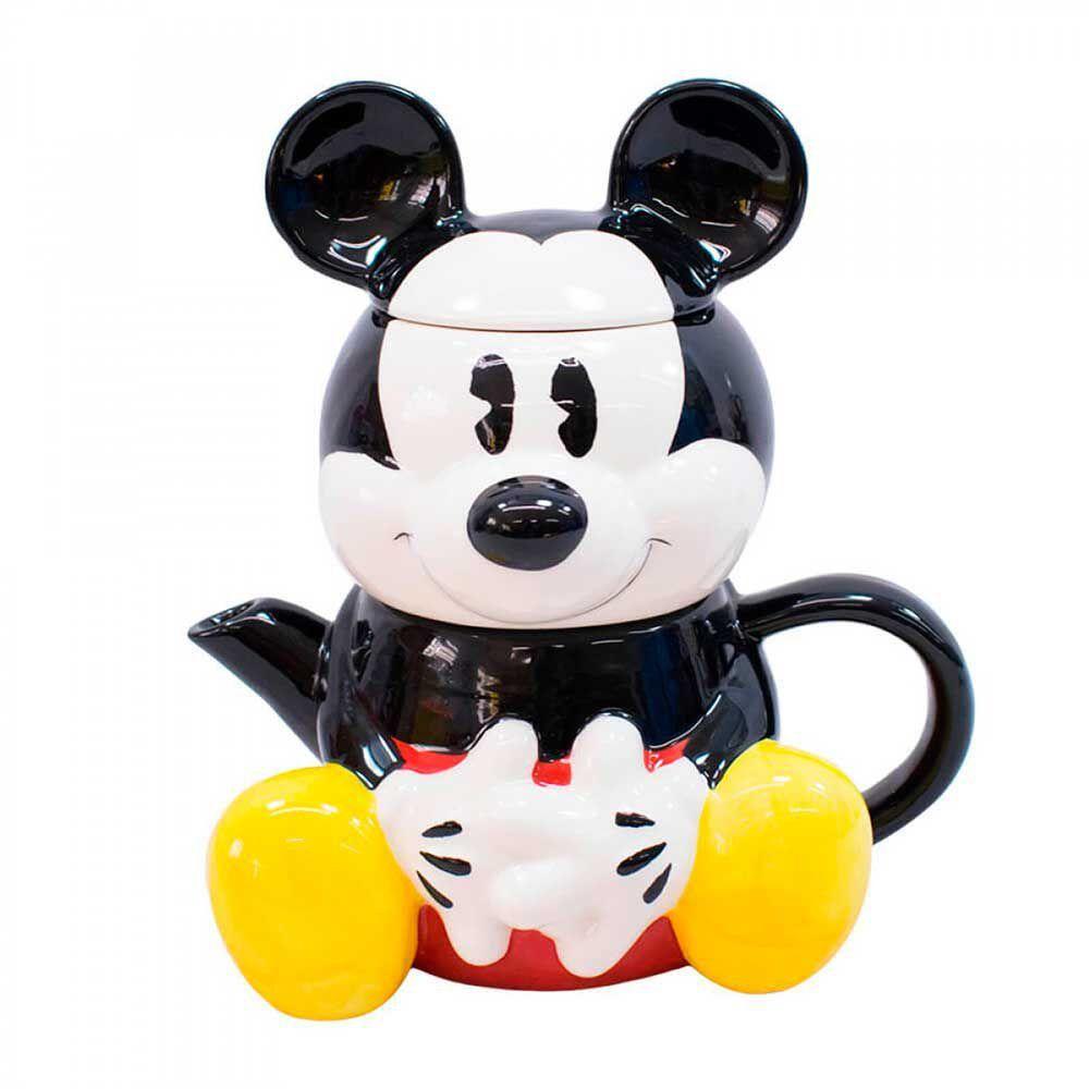 Conjunto Bule e Caneca 3D Disney Mickey