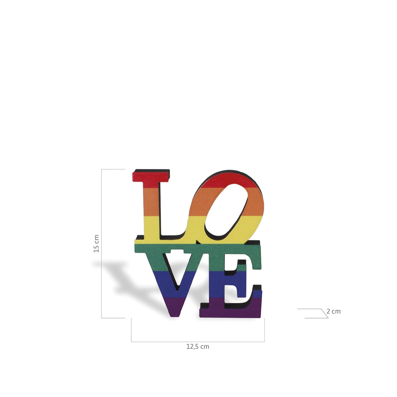 Escultura de Mesa Love Wins