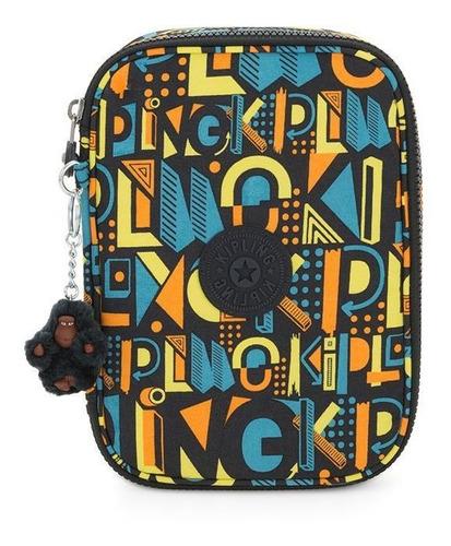 Estojo Kipling 100 Pens Deco Print Mix