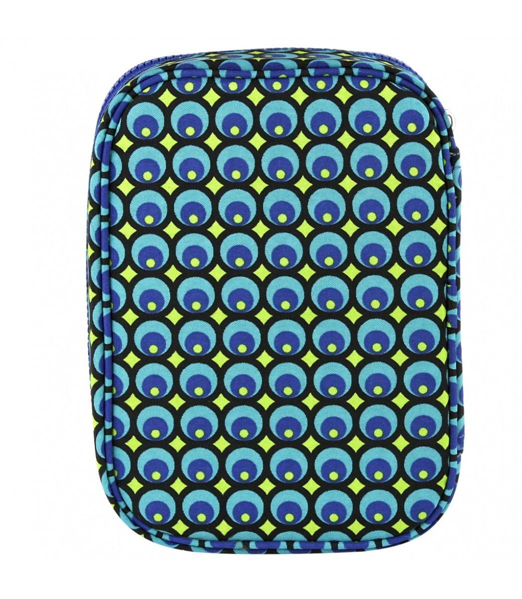 Estojo Kipling 100 Pens Peacock Print