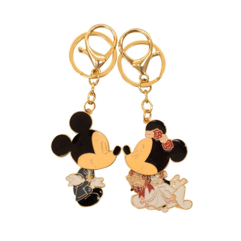 Jogo de Chaveiros Disney Mickey e Minnie Noivos Casamento