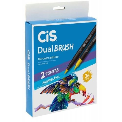 Kit Caneta Dual Brush Cis - 36 Cores