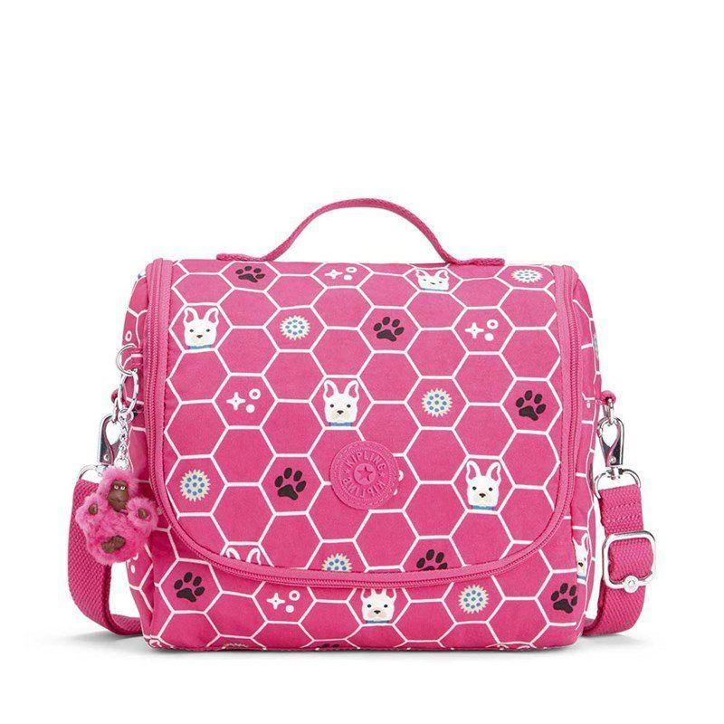 Lancheira Kipling Kichirou Flex Pink Dog Tile