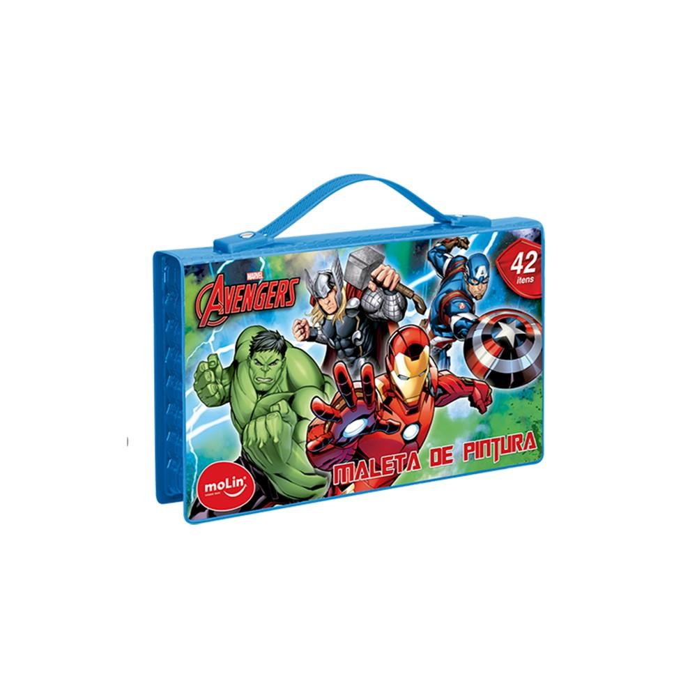 Maleta De Pintura Molin Avengers C/ 42 Itens
