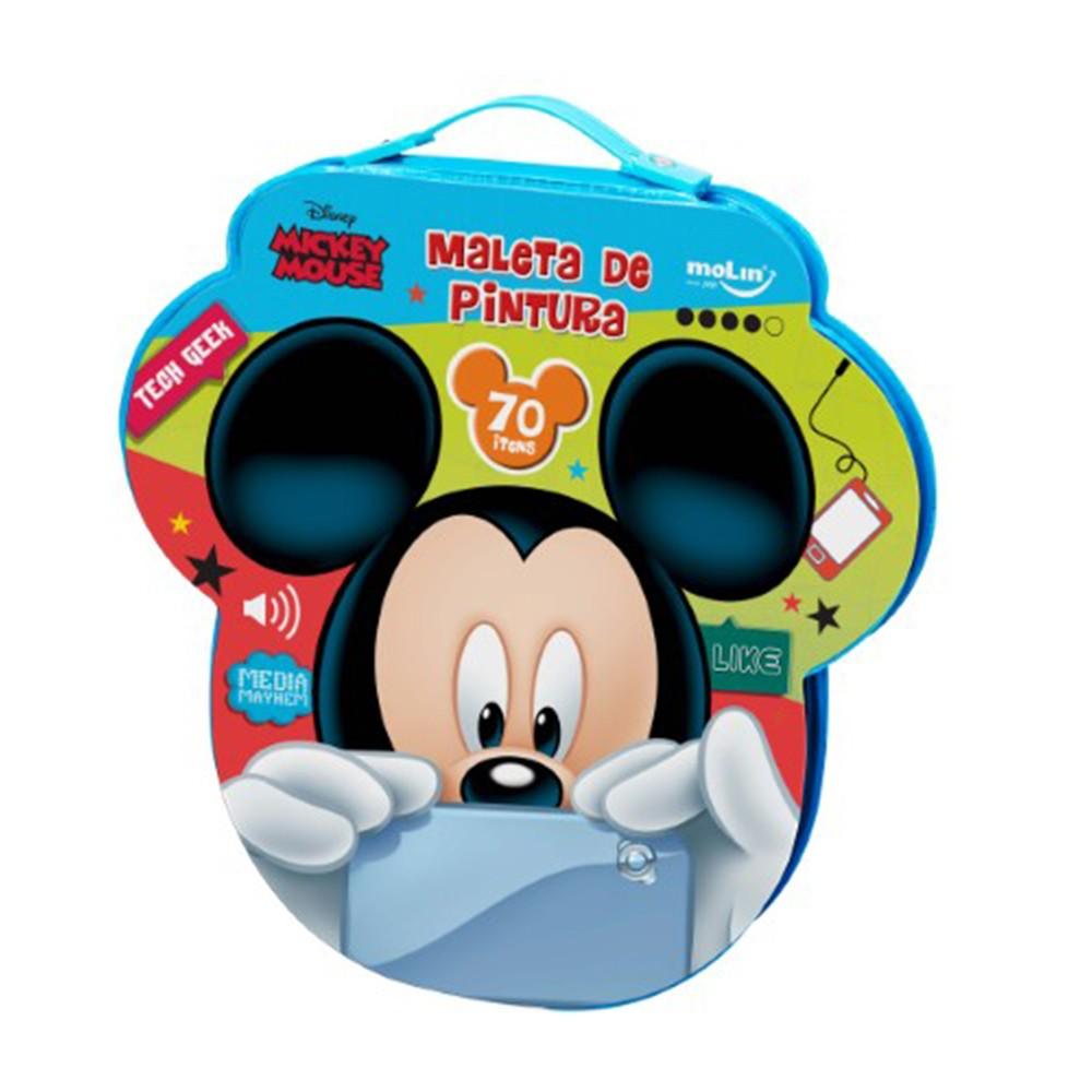 Maleta De Pintura Molin Face Mickey C/ 70 Itens