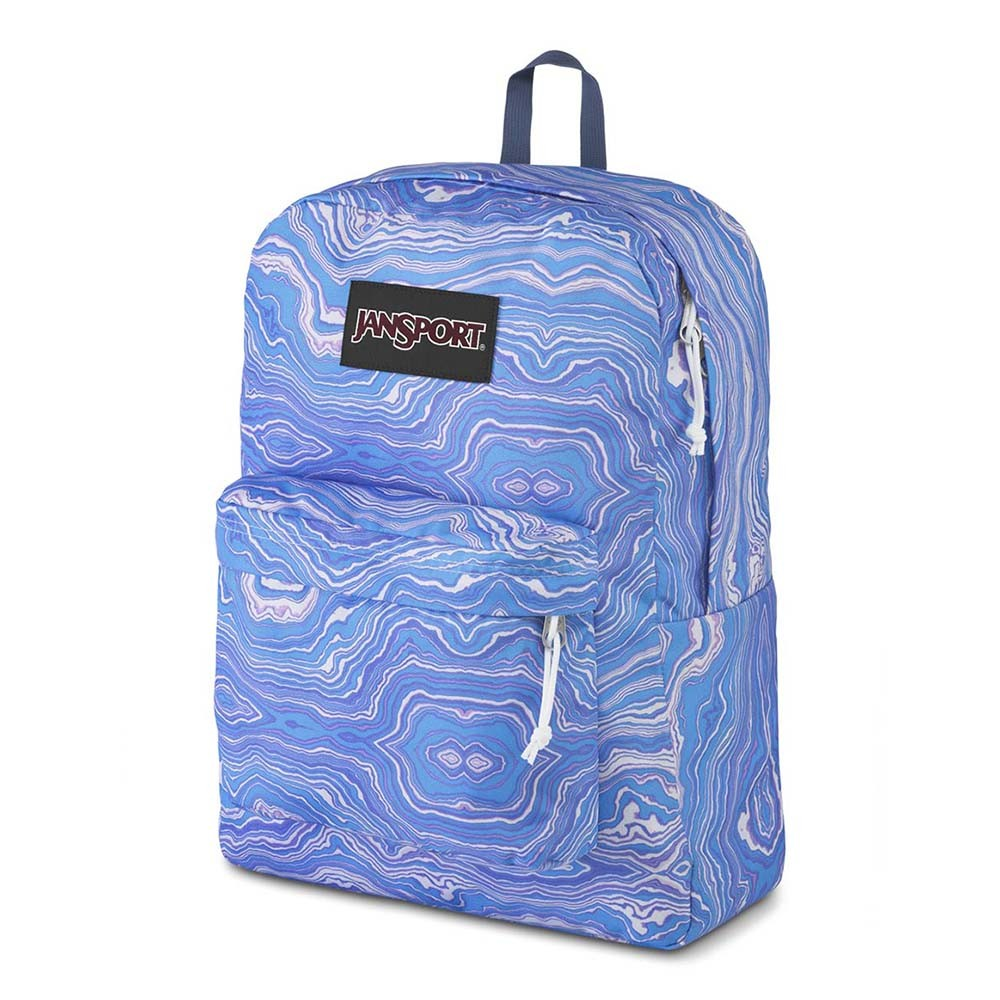 Mochila Jansport Black Label Superbreak Blue Geode Load Print