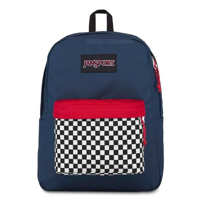 Mochila Jansport Black Label Superbreak Finish Line Navy