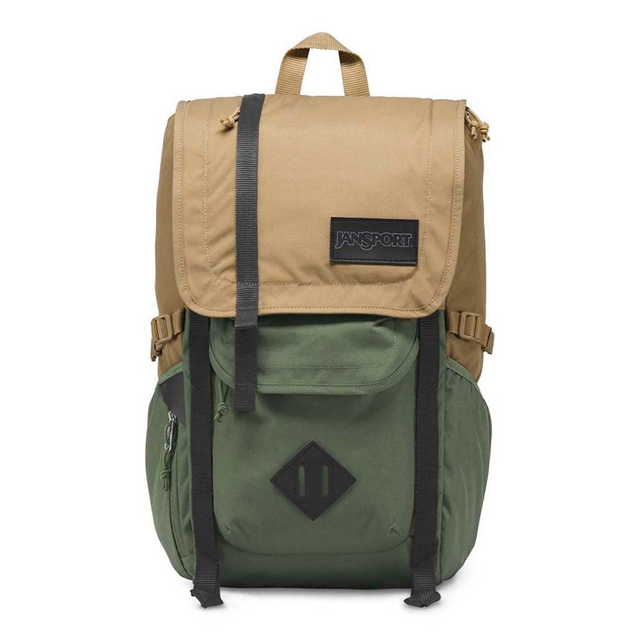 MOCHILA JANSPORT HATCHET - FIELD TAN / MUTED GREEN