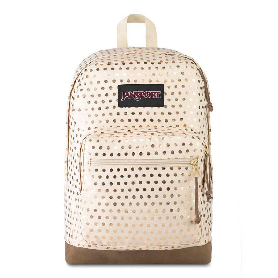 MOCHILA JANSPORT RIGHT PACK EXPRESSIONS - GOLD POLKA DOT