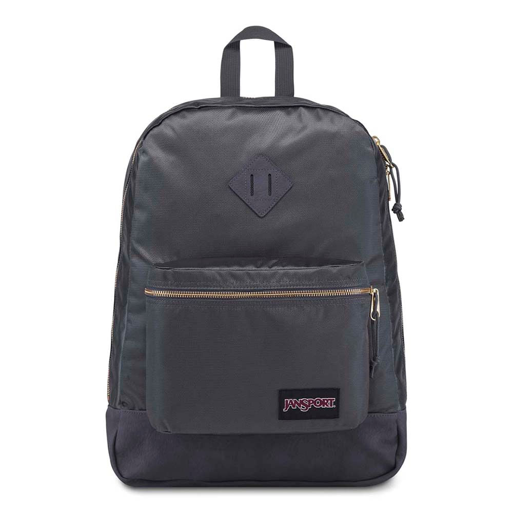Mochila Jansport Super Fx Deep Grey Gold Premium Poly