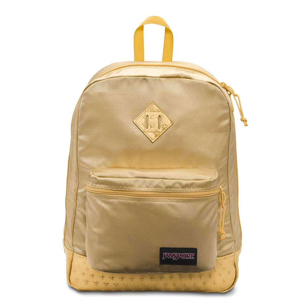 Mochila Jansport Super Fx Gold 3D Stars