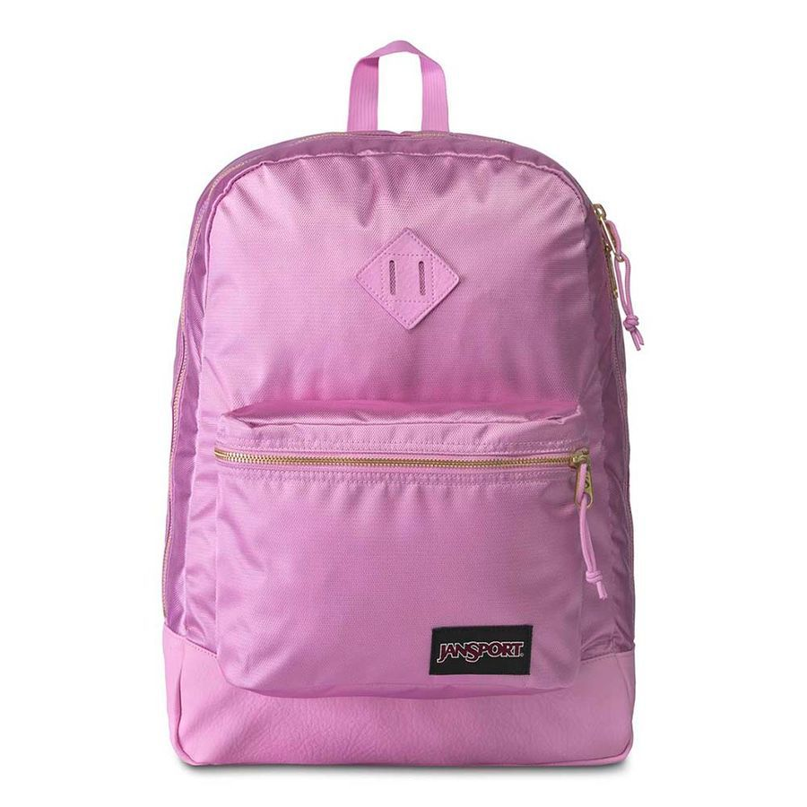 MOCHILA JANSPORT SUPER FX - LAVANDER ORCHID GOLD