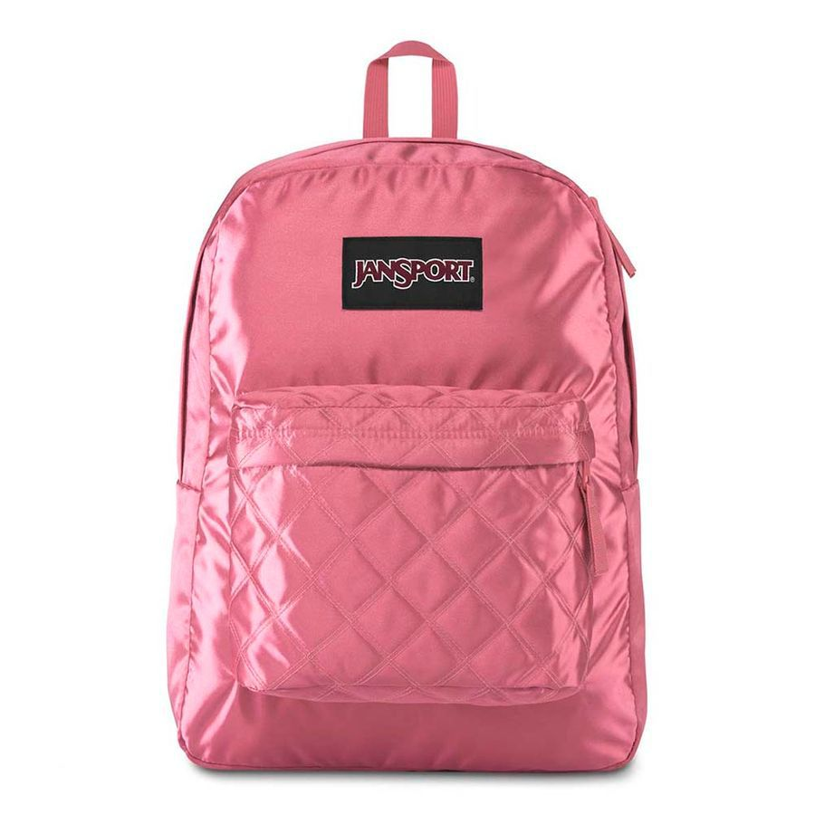 MOCHILA JANSPORT SUPER FX - SLATE ROSE DIAMOND QUILTING