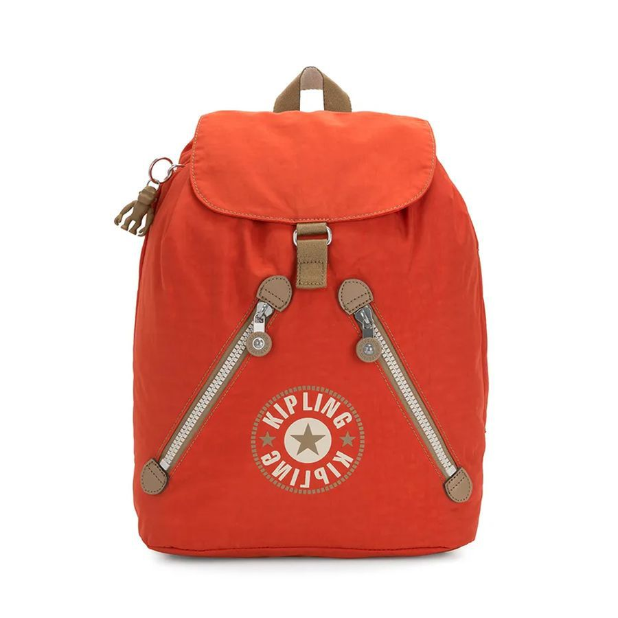 Mochila Kipling Fundamental Funky Orange Bl