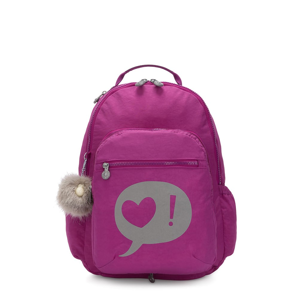 Mochila Kipling Seoul Switch Bright Pink