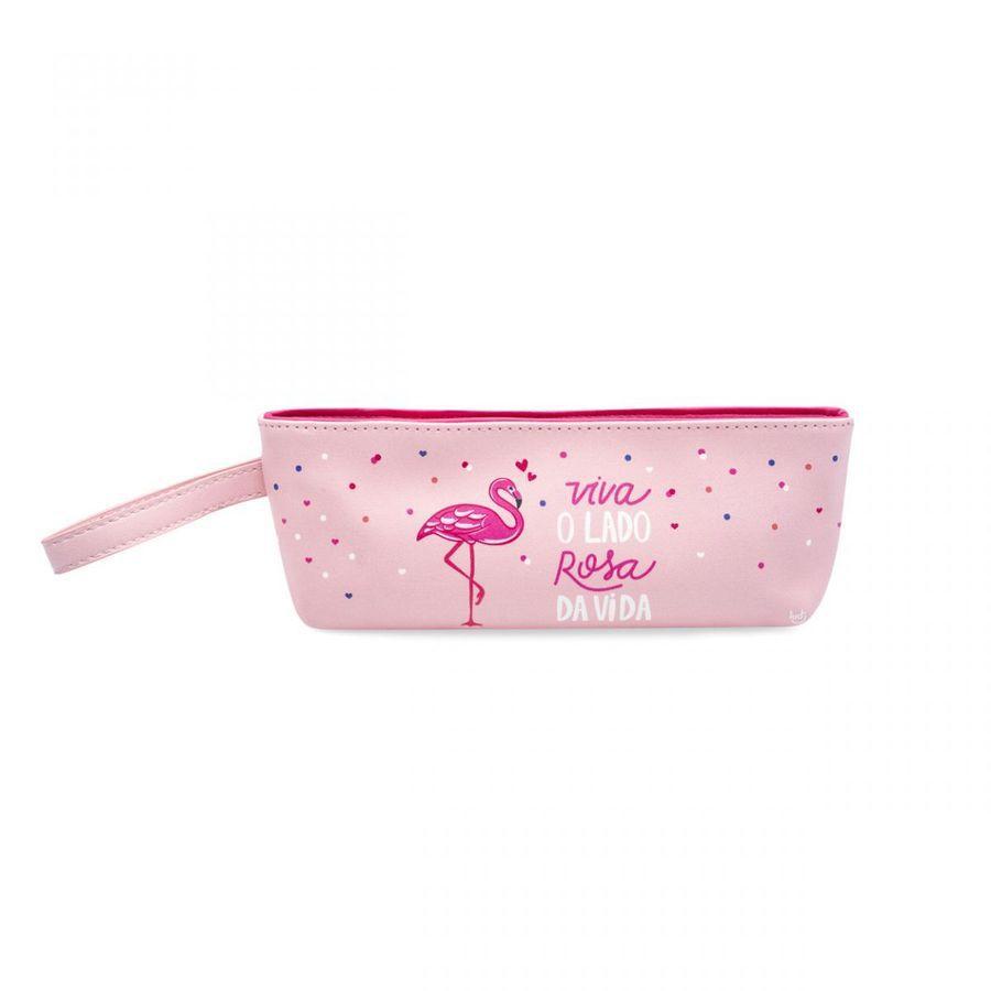 Nécessaire Com Alça Flamingos
