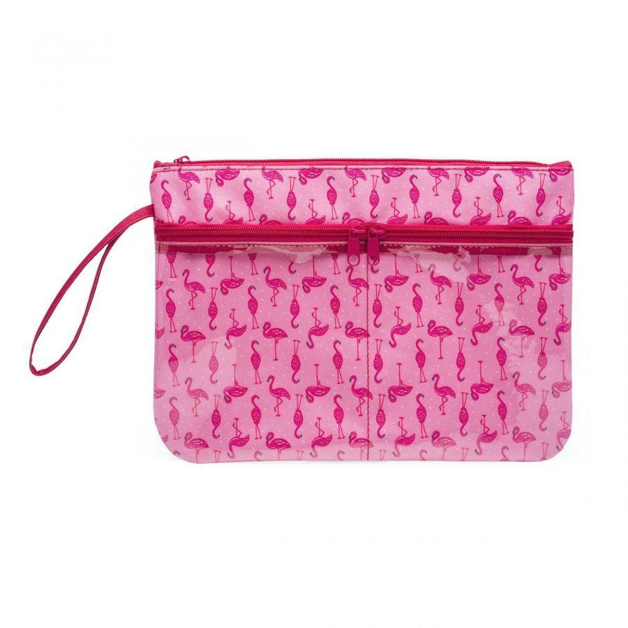 Nécessaire Com Bolsos Flamingos