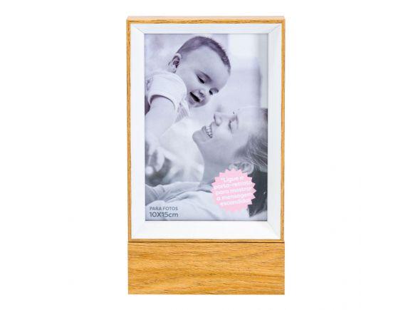 Porta-Retrato Madeira LED - Lar É Onde O Amor Está