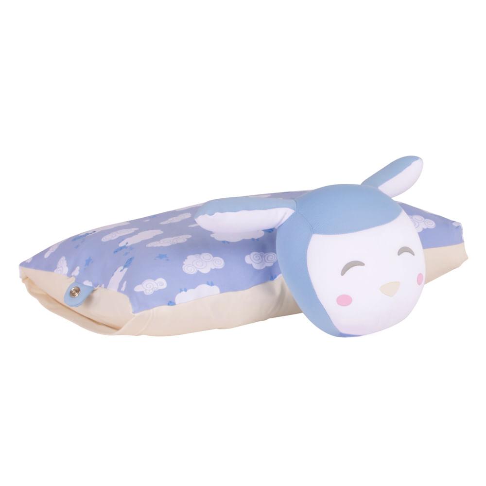 Travesseiro Fom Naninha Carneirinhos Azul
