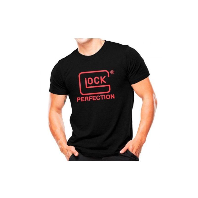 CAMISETA MILITAR ESTAMPADA GLOCK PERFECTION 1-PRETO C/ VERMELHO,GG