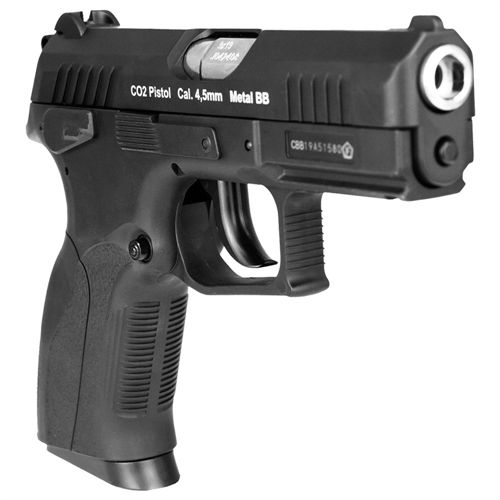 PISTOLA DE PRESSÃO 4.5 CO2 SLIDE METAL W129 + BLOW BACK