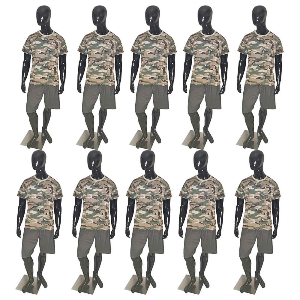 Kit 10 X Camiseta Camuflada Masculina Exército Militar - Camisa Blusa