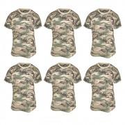 Kit 6 X Camiseta Camuflada Masculina Exército Militar - Camisa Blusa