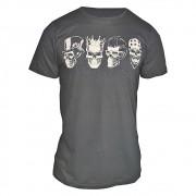 Camiseta Masculina 4 Caveiras - Alto Relevo Skull Black