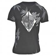 Camiseta Masculina Especial Preta com Estampa de Caveira (Dec. Careca Meia Malha Preta)
