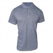Camiseta Polo Masculina - Azul Liso - Ótima Qualidade - Promoção