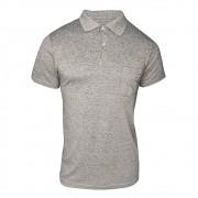 Camiseta Polo Masculina - Cinza Liso - Ótima Qualidade - Promoção
