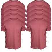 Kit 10 Camisetas Masculinas Básicas Bordo Algodão T-Shirt Lisa
