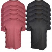 Kit 10 Camisetas Masculinas Básicas Lisas Top Algodão Premiun