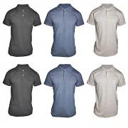 Kit 6 Pç Camiseta Pólo Masculina - Camisa Gola Pólo Algodão